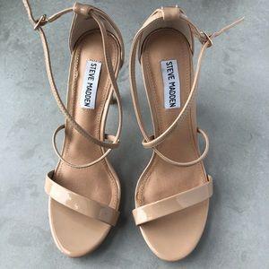 Steve Madden - Feliz Blush Heeled Sandals Size 8